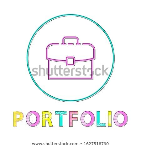 Aktetas heldere lineair web icon sjabloon kantoormedewerker Stockfoto © robuart