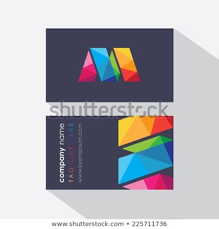 Logo levél narancs fekete ikon logotípus Stock fotó © blaskorizov