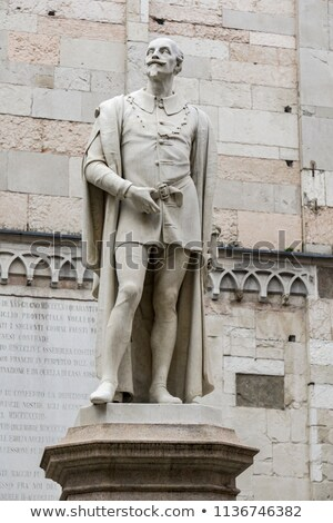 Statue of Alessandro Tassoni in Modena, Italy Stock photo © boggy