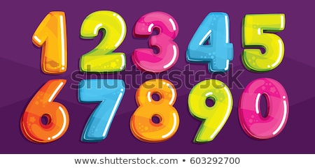 Children and numbers and signs Stock photo © colematt