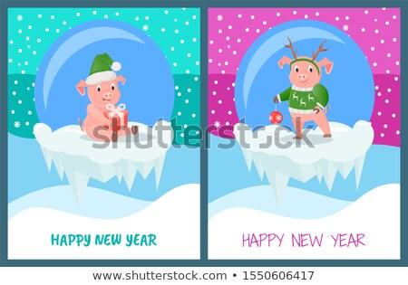 design · année · porc · célébration · rouge - photo stock © robuart