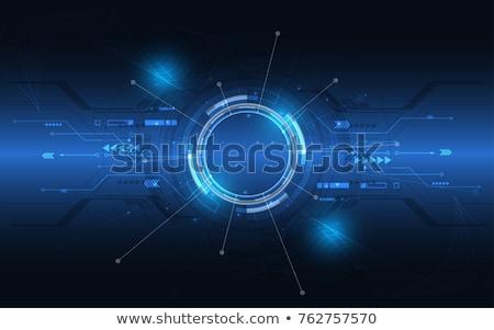 Laser disegno contorno smartphone ingegneri Foto d'archivio © RAStudio