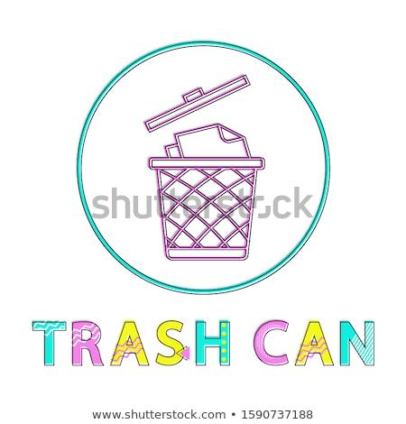 мусорное · ведро · изолированный · белый · фон · металл · грузовика - Сток-фото © robuart