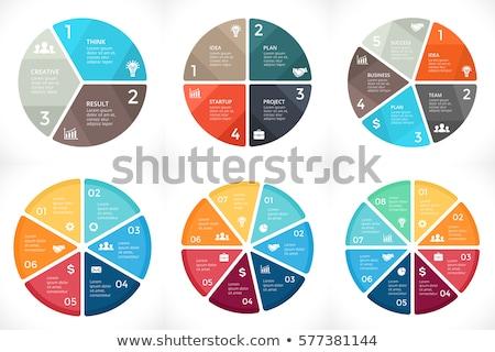 Инфографика пирог цикл Стрелки вектора Сток-фото © robuart