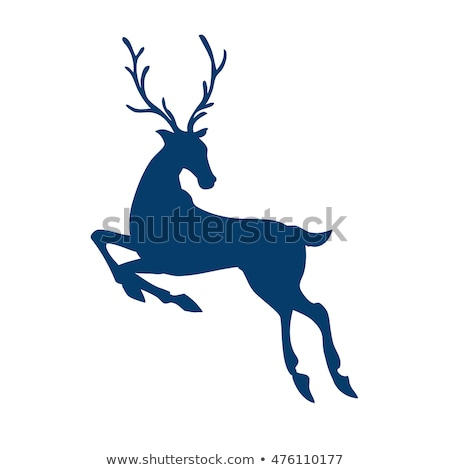 Deer head, beautiful buck with antlers color isolated vector illustration Stock photo © jeff_hobrath