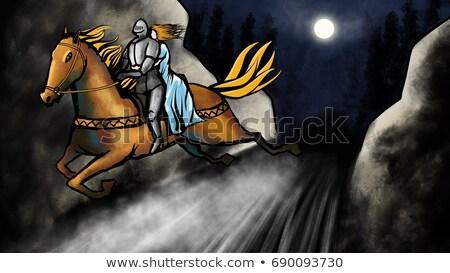 Noche ahorro princesa ilustración fondo arte Foto stock © bluering