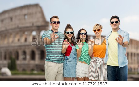 Reise · touristischen · Mädchen · Zeichen · Italien - stock foto © dolgachov