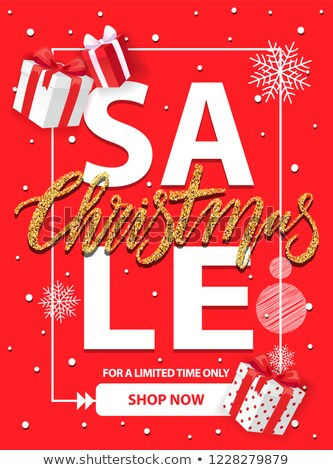 Christmas Sale for a Limited Time Vector Brochure Stock photo © robuart