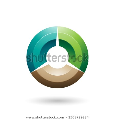 green and beige glossy shaded circle vector illustration stock photo © cidepix