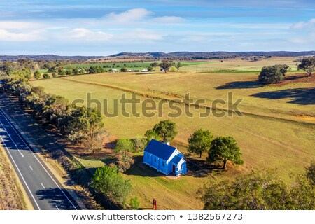 Little Blue Church in rural Australia Stock fotó © lovleah