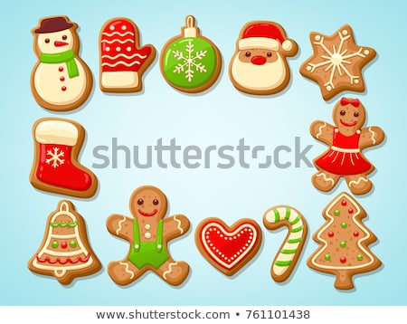 Gingerbread Man Cookies and Santa Claus Candy Stock photo © robuart