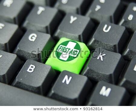 First Aid Sign On Keyboard Stock photo © AndreyPopov