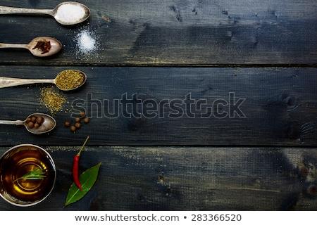 Vers aromatisch kruiden rosmarijn metaal plaat Stockfoto © Melnyk