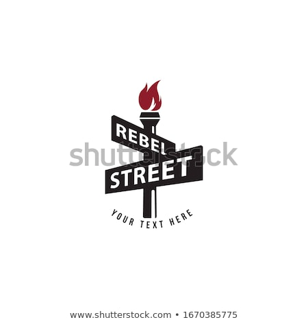 Street Signs Line Design Template Stock photo © Anna_leni