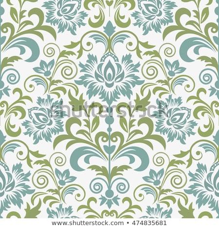 Absztrakt klasszikus végtelenített damaszt minta virágmintás Stock fotó © fresh_5265954