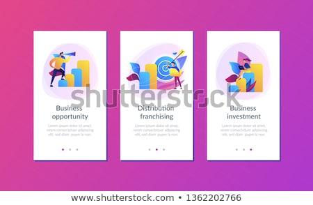 Business opportunity app interface template. Stock photo © RAStudio