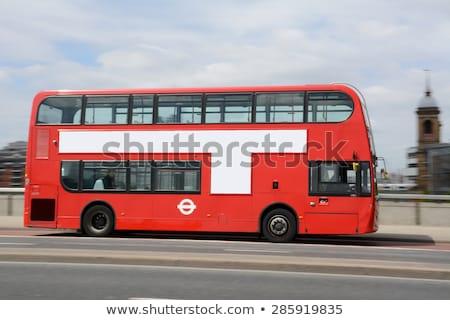Londen Rood bus zijaanzicht symbool auto Stockfoto © Winner