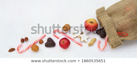 Stockfoto: Snoep · cookies · amandelen · boord · voedsel · christmas
