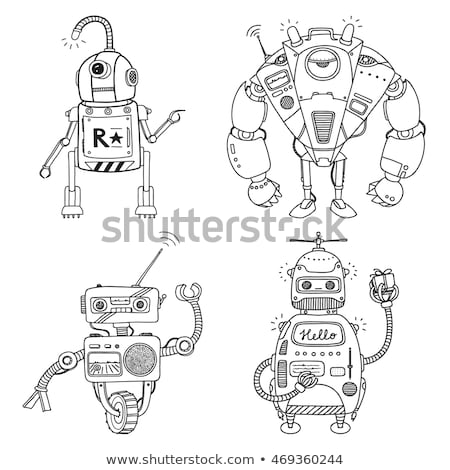 differences color book with robot characters stock photo © izakowski