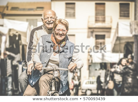 Stock photo: Pensioners Having Fun in City, Senior People Town