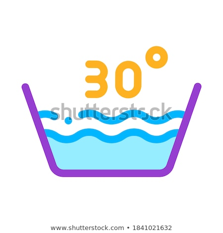 Laundry Thirty Degrees Celsius Vector Line Icon Stock photo © pikepicture