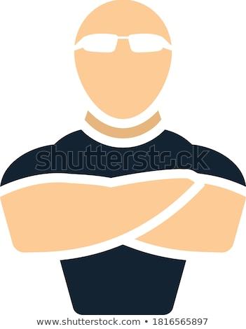 guarda-costas · isolado · guarda · de · segurança · cara · controlar · boate - foto stock © angelp