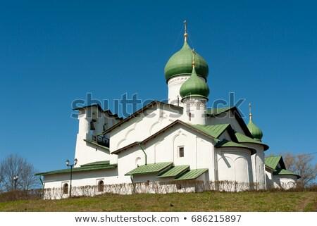 church of the epiphany pskov russia stock photo © borisb17