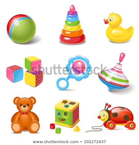 Bright Colorful Playthings, Kids and Toys Vector Stock photo © robuart