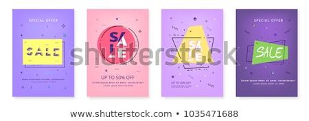 memphis style big sale template banner design Stock photo © SArts