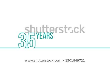 Año aniversario cumpleanos lineal gráficos Foto stock © kyryloff