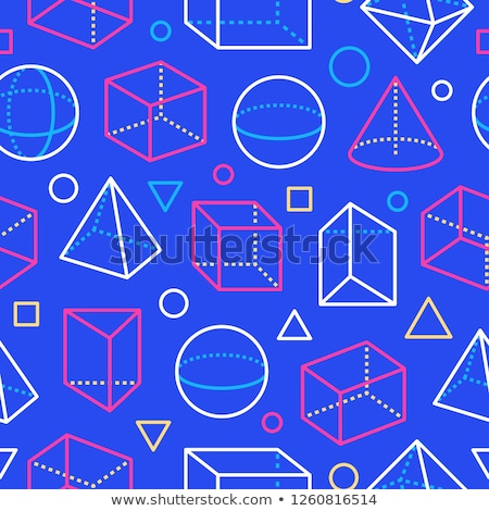 3D Pyramid Cubes Seamless Repeating Pattern Vector Illustration Stock photo © jeff_hobrath