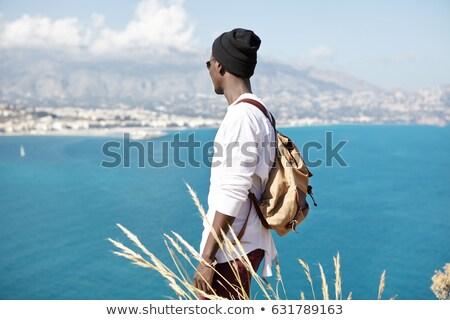 парень гор турист пеший турист туристических путешественник Сток-фото © robuart