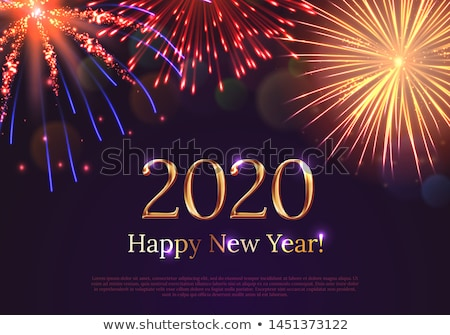 2020 new year fireworks display stock photo © solarseven