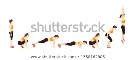 Stock photo: Push-Ups Upper Position
