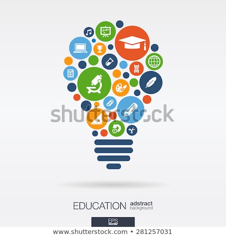 Teaching and e-learning - colorful vector brochure template Stock photo © Decorwithme