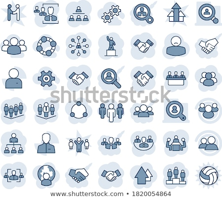 Successful Team Business People on Pedestal Design Stock photo © robuart