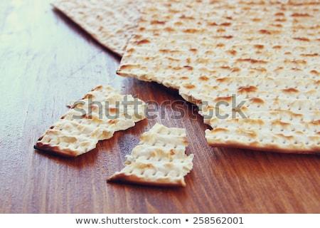 Traditionellen Ritual Brot Passah Essen Urlaub Stock foto © furmanphoto