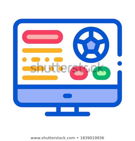 football · site · écran · icône · illustration - photo stock © pikepicture
