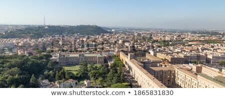 Róma kilátás domb város tájkép hegy Stock fotó © xbrchx