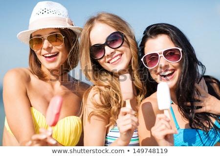 Bikini dondurma plaj yaz tatil Stok fotoğraf © dolgachov