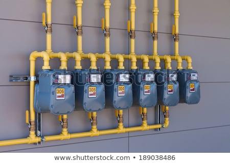Row of gas meters Stock photo © bobkeenan
