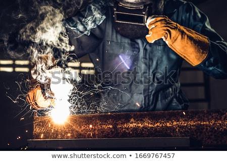 Soudage métal industrie travail rouge Photo stock © joyr