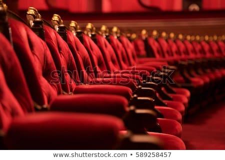 Kırmızı koltuk rahat koltuk çerçeve oda Stok fotoğraf © jordygraph