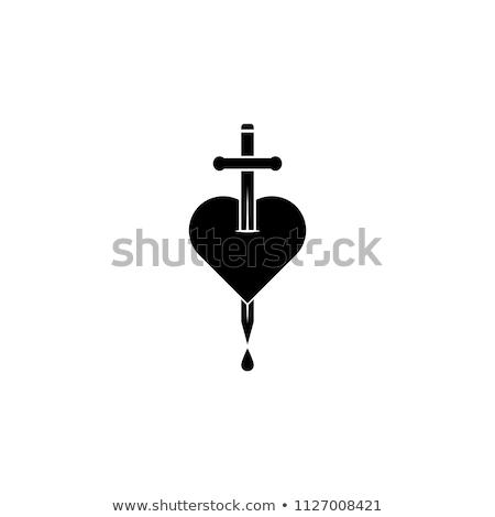 kanama · kalp · dışarı · kan - stok fotoğraf © get4net