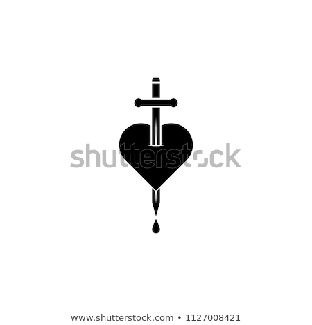 heart with sword stock photo © get4net