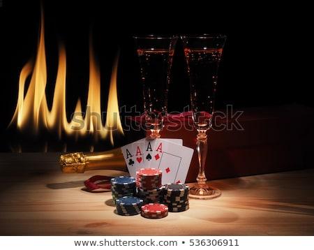 ポーカー · 青 · 顔 · スーツ · クラブ · ダイヤモンド - ストックフォト © damonshuck