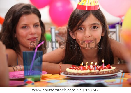 Girl celebrating her fifth birthday Stock photo © photography33
