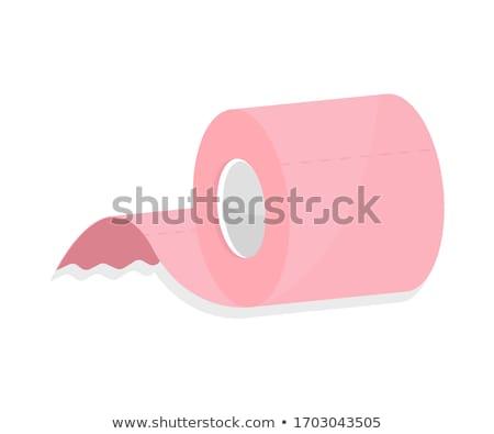 rózsaszín · vécépapír · fehér · papír · háttér · takarítás - stock fotó © jirkaejc