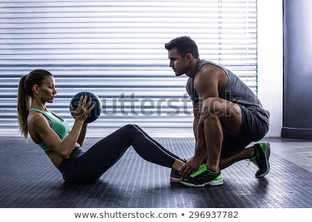 Stock photo: exercise in gym center
