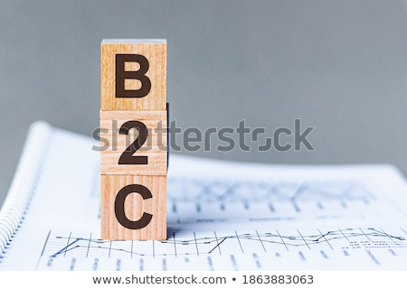 Acronym of B2C - Business to Customer Stock photo © bbbar